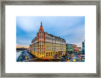 Hotel Baltschug Kempinski Of Moscow Framed Print by Alexander Senin