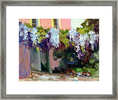 Hotel Baudy Wisteria Framed Print by Diane McClary