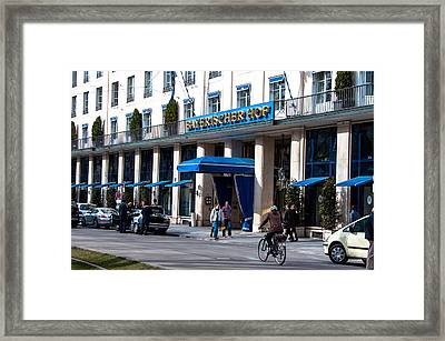 Hotel Bayerischer Hof In Munich Framed Print