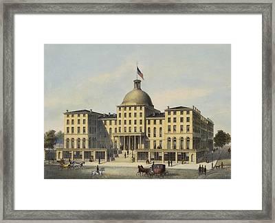 Hotel Burnet Circa 1850 Framed Print by Aged Pixel