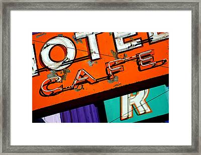 Framed Print featuring the photograph Hotel Cafe Bar In Alma by Daniel Woodrum