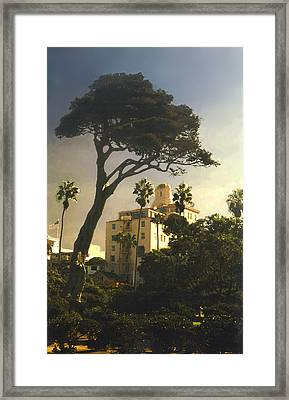 Framed Print featuring the photograph Hotel California- La Jolla by Steve Karol