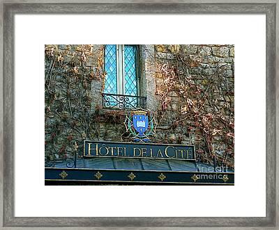 Hotel De La Cite Framed Print by France  Art