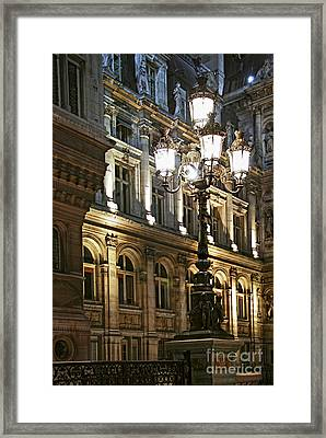 Hotel De Ville In Paris Framed Print by Elena Elisseeva
