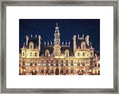 Hotel De Ville Paris Framed Print by Liz Leyden