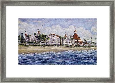 Hotel Del Beach Framed Print