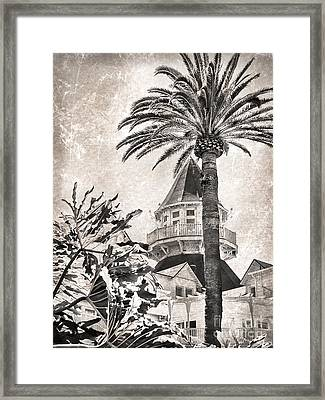 Framed Print featuring the photograph Hotel Del Coronado by Peggy Hughes