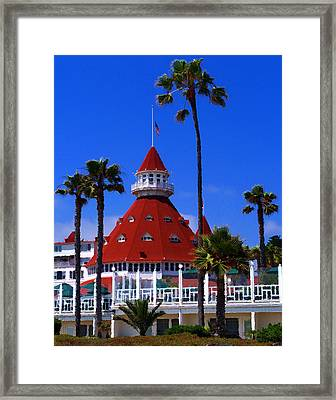 Hotel Del Framed Print by Ron Regalado