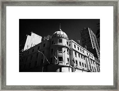 hotel espana Santiago Chile Framed Print by Joe Fox