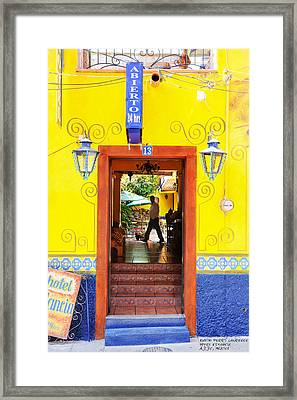 Hotel Estancia - Ajijic - Mexico Framed Print by David Perry Lawrence