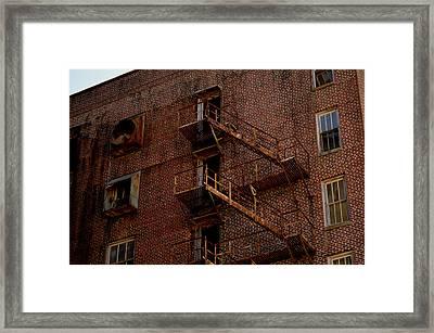 Hotel Grim Fire Escape Framed Print by Joel Wright