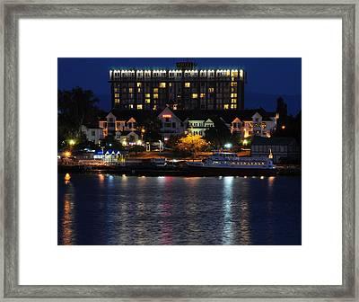 Hotel Harbor Lights Framed Print by SEA Art