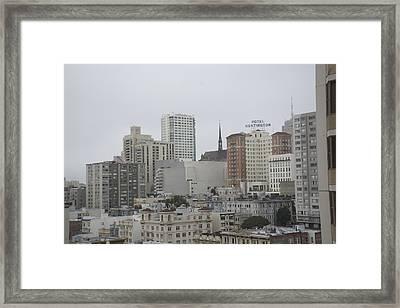 Hotel Huntington Framed Print by Nicholas Alvarez