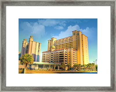 Hotel In Downtown Myrtle Beach Framed Print by Kathy Baccari