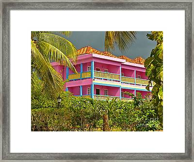 Hotel Jamaica Framed Print by Linda Bianic