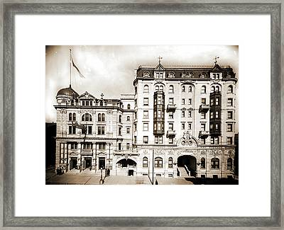 Hotel Kernan & Maryland Theatre, Baltimore Framed Print by Litz Collection