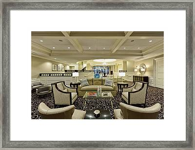 Hotel Lobby  Framed Print by M Cohen