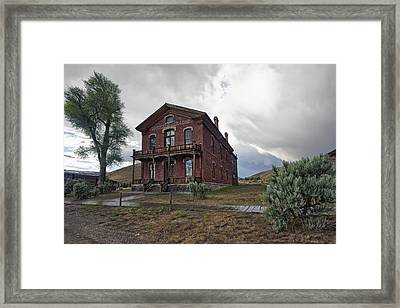 Hotel Meade - Bannack Ghost Town - Montana Framed Print by Daniel Hagerman