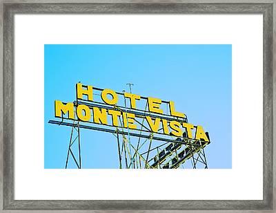 Hotel Monte Vista Framed Print