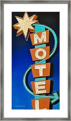Hotel Motel Framed Print by Heidi Martin
