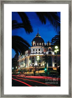 Hotel Negresco Framed Print
