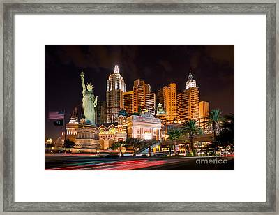 Hotel New York New York - Las Vegas Framed Print by Henk Meijer Photography