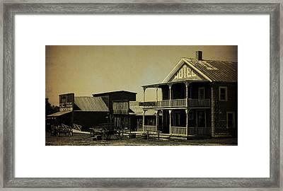 Hotel On Main Street II Framed Print by Terry Eve Tanner