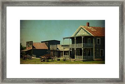 Hotel On Main Street Framed Print by Terry Eve Tanner