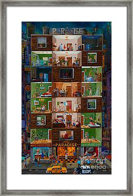 Framed Print featuring the painting Hotel Paradise by Igor Postash