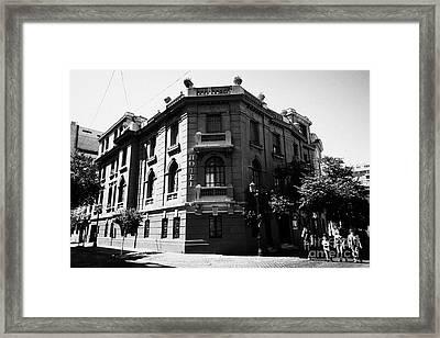 hotel paris-londres barrio paris londres Santiago Chile Framed Print by Joe Fox