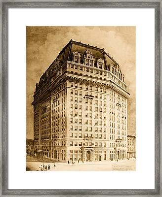 Hotel Pontchartrain Detroit 1910 Framed Print by Mountain Dreams