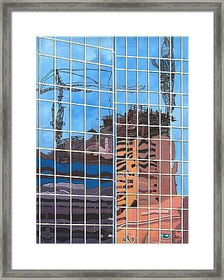 Hotel Rising Framed Print by Alika Kumar