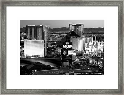 Hotel Room Heaven Bw Framed Print