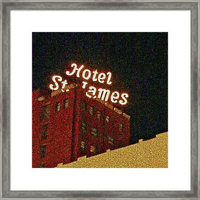 Hotel - St James San Diego Framed Print