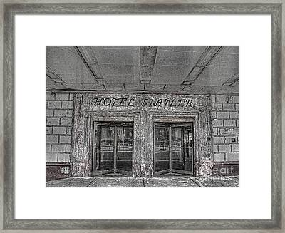 Framed Print featuring the photograph Hotel Statler Buffalo Ny by Jim Lepard