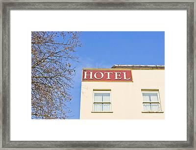 Hotel Framed Print by Tom Gowanlock