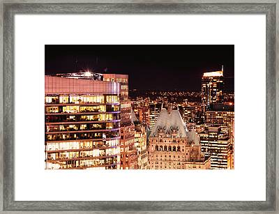 Framed Print featuring the photograph Hotel Vancouver And Wall Center Mdccv by Amyn Nasser