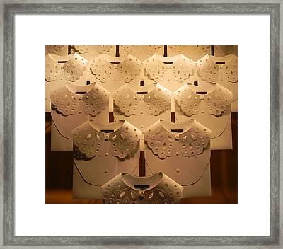 Louis Vuitton Window Display Framed Print