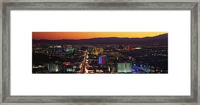 Hotels Las Vegas Nv Framed Print