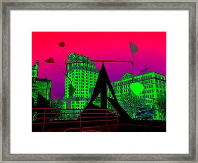 Framed Print featuring the photograph Hotlanta by Cleaster Cotton