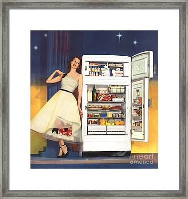 Hotpoint 1951 1950s Usa Fridges Framed Print