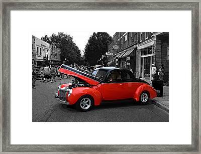 Hotrod Digital Art Framed Print