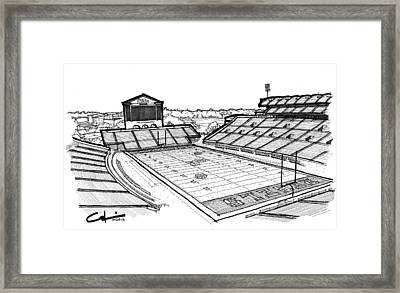 Framed Print featuring the drawing Hotty Toddy by Calvin Durham