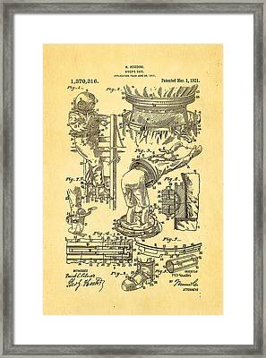 Houdini Diving Suit Patent Art 1921 Framed Print