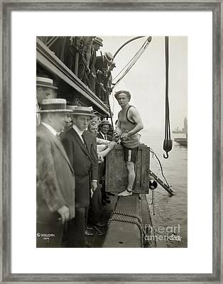 Houdini Overboard Box Escape, 1912 Framed Print