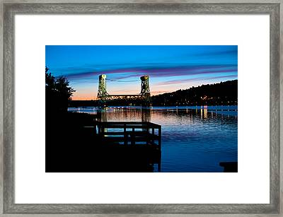 Houghton Bridge Sunset Framed Print