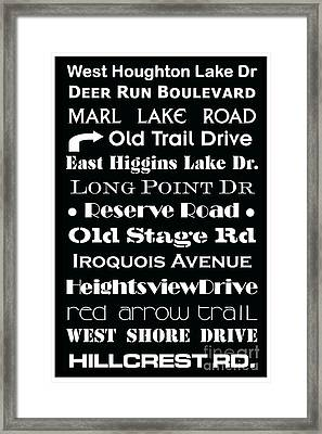 Houghton Higgins Subway Sign Framed Print