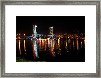 Houghton Lift Bridge  Framed Print