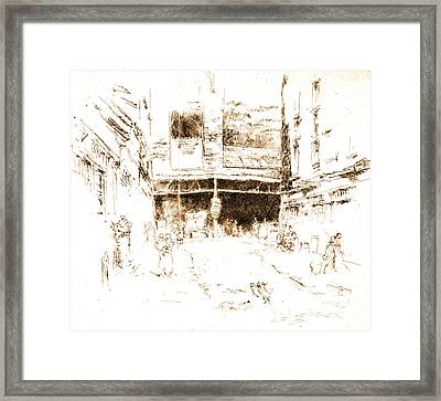 Houndsditch Clothes Exchange 1887 Framed Print by Padre Art