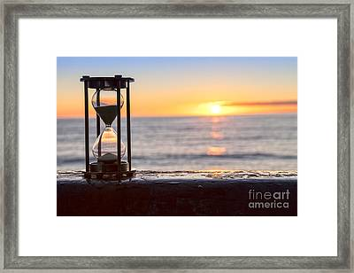 Hourglass Sunrise Framed Print by Colin and Linda McKie